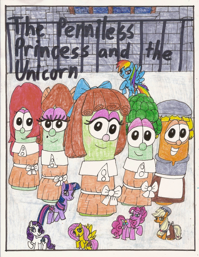 Veggietales penniless princess coloring pages - Veggie