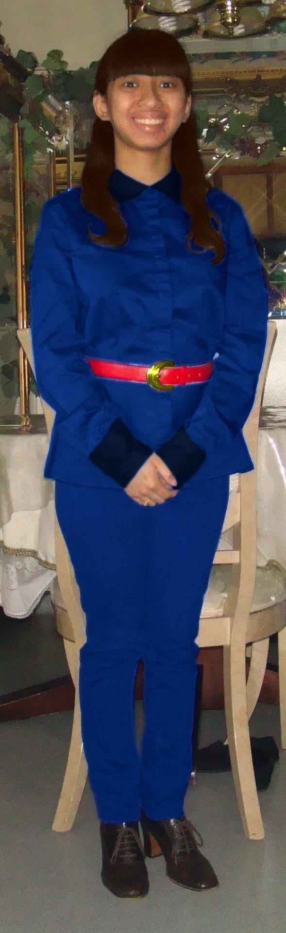 Me as 1971 s Violet Beauregarde in blue attire V 2 by Magic-Kristina    Original Violet Beauregarde