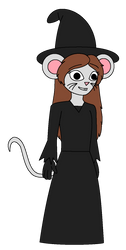 TCB - Mimi Mouse in Halloween witch costume by Magic-Kristina-KW