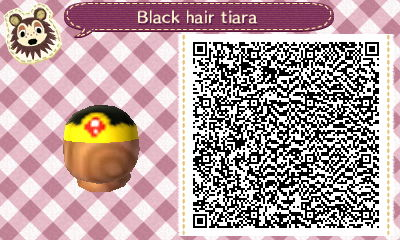 ACNL - Black hair with a royal tiara QR code by Magic-Kristina-KW