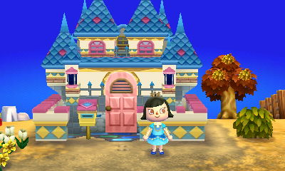 Acnl me as the fairy tale princess with a castle by Animal crossing new leaf house exterior