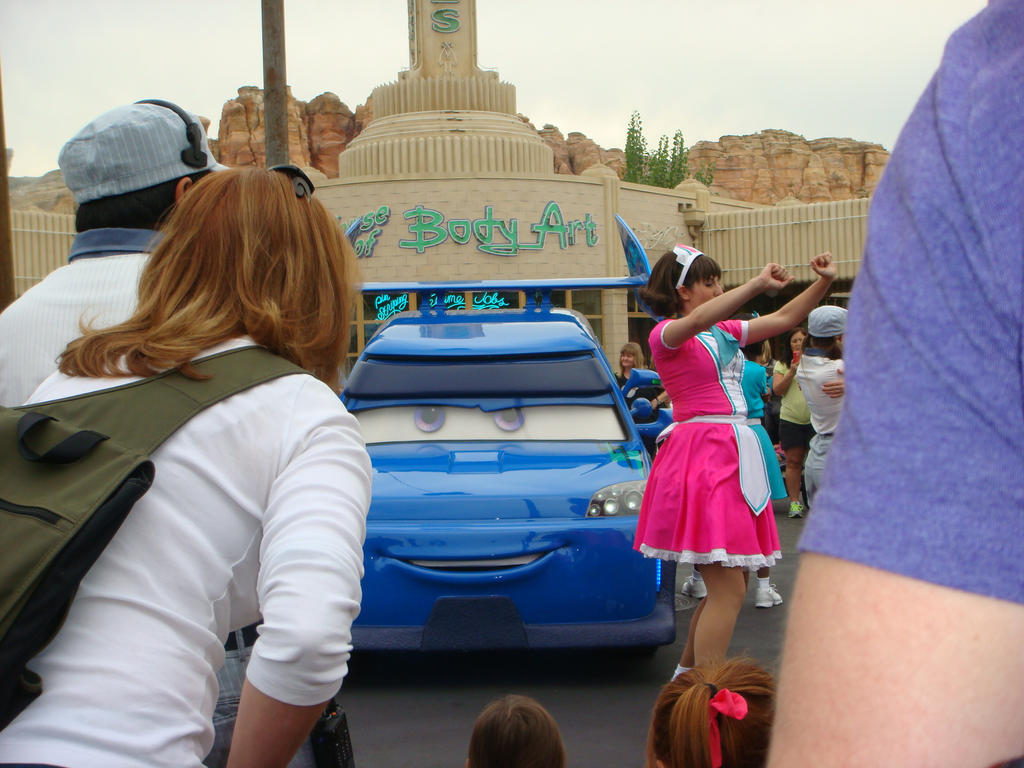 There's DJ in Radiator Springs for a dance party by Magic-Kristina-KW