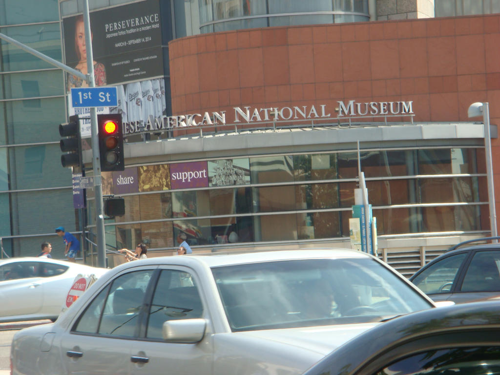 A visit to the japanese american national museum in the city of los angeles in little tokyo
