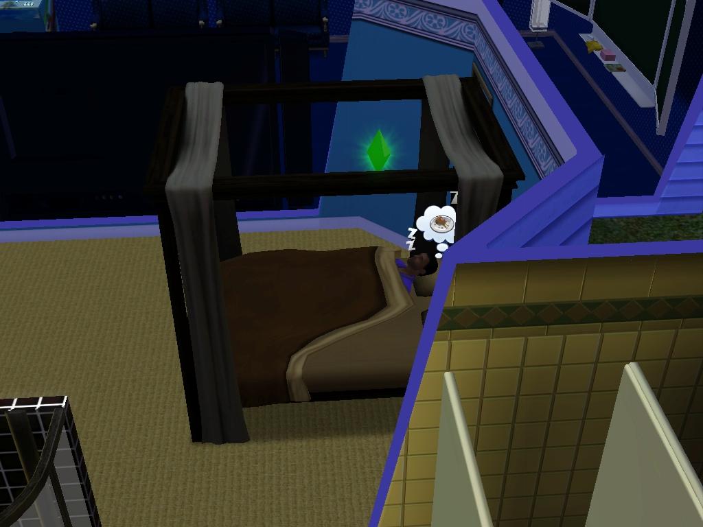 Sims 3: Eugene Beauregarde sleeps while Kitty's up by Magic-Kristina-KW