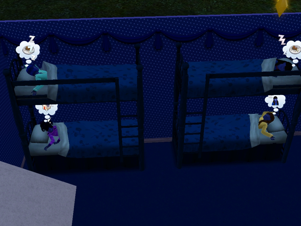 Sims 3 - Blue Beauregarde Girls and I are asleep 2 by Magic-Kristina-KW