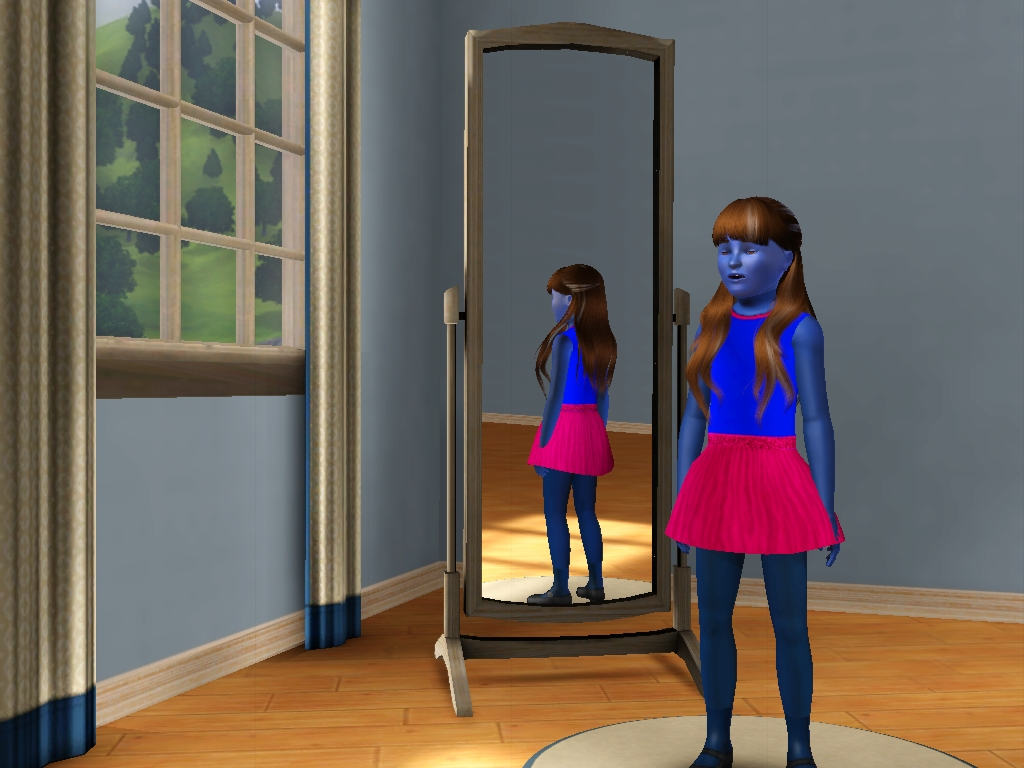 Sims 3 - Denise as Amy Collins turn blue 1 by Magic-Kristina-KW