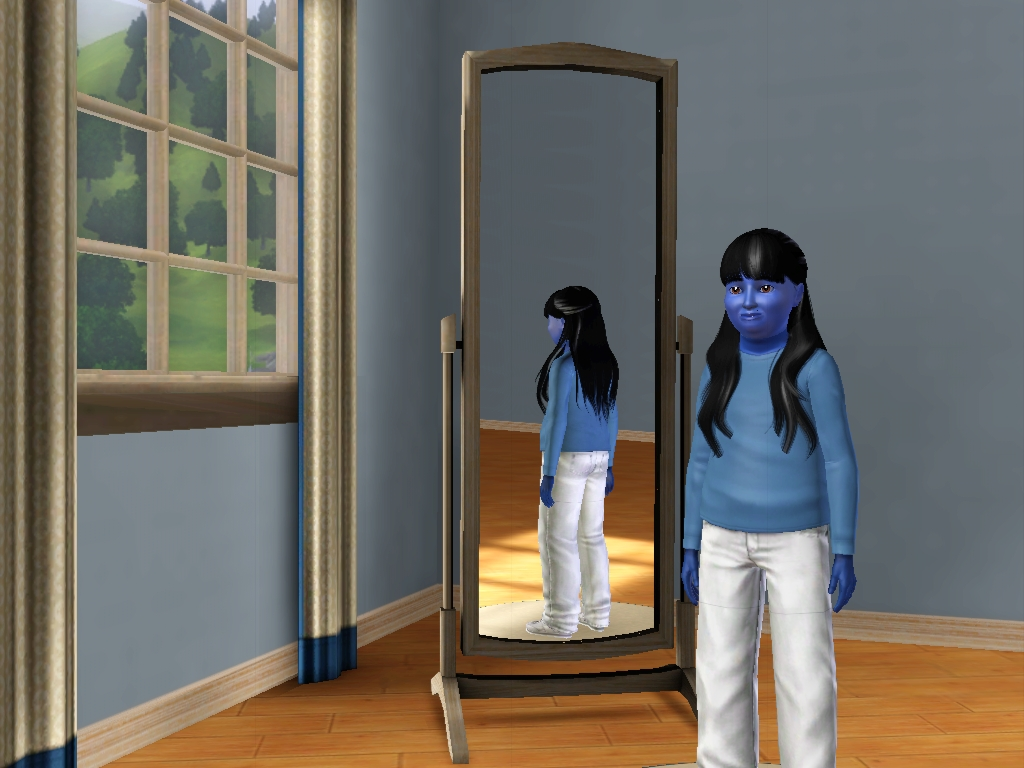 Sims 3 - I'm now a fat human blueberry girl by Magic-Kristina-KW