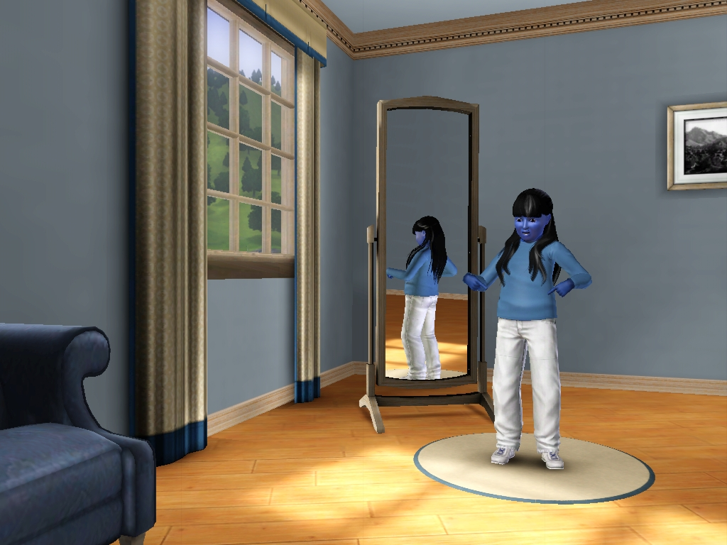 Sims 3 - I'm inflating into a fat human blueberry by Magic-Kristina-KW