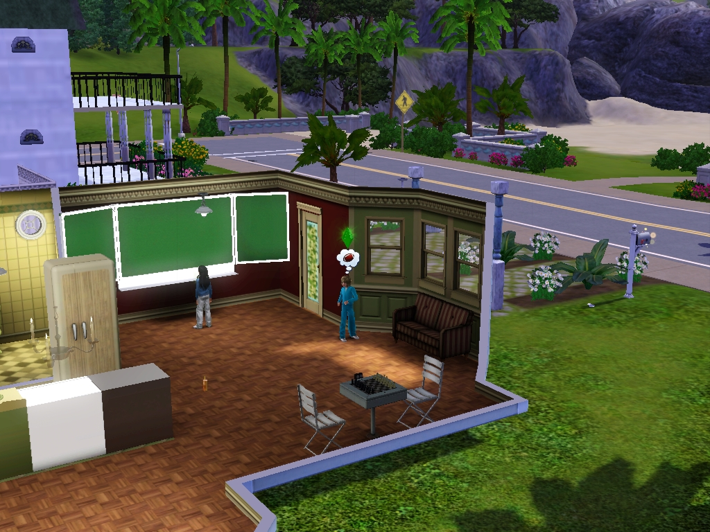 Sims 3 - Annasophia and I got home from school by Magic-Kristina-KW