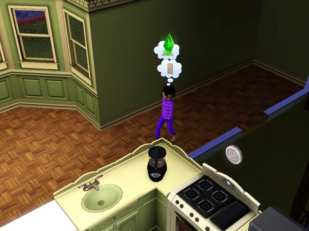 Sims 3 - Violet is hungry for breakfast cereal too by Magic-Kristina-KW