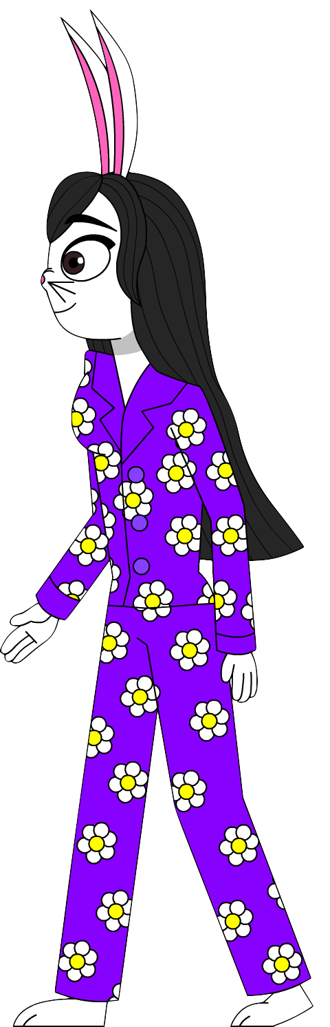 Redesigned Ellie Elsen the Bunny's walking by Magic-Kristina-KW