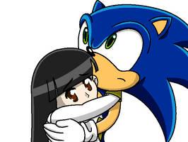 RSMvStH - Sonic saves the weakened Sera by Magic-Kristina-KW