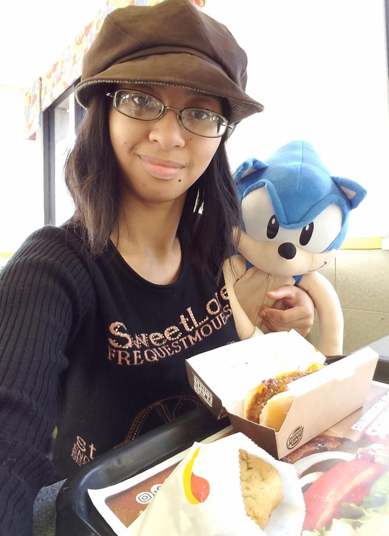 classic sonic the hedgehog and me in burger king by magic kristina