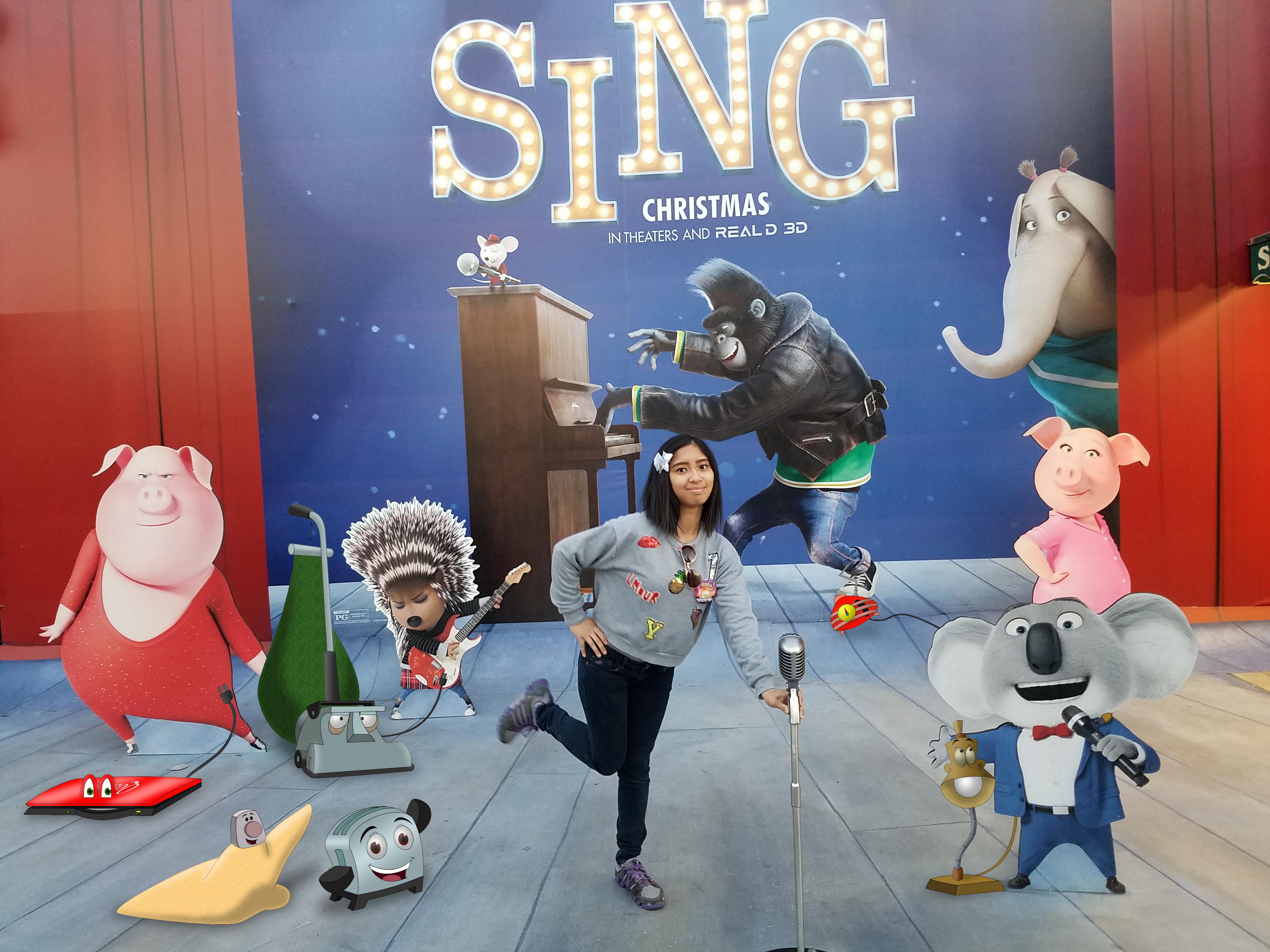 I'm at Sing cardboard background at USH photo 3 by Magic-Kristina-KW