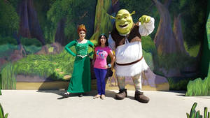 I met Shrek and Fiona together for the first time