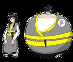 Naruto styled Sera Inamaski fully inflated by Magic-Kristina-KW