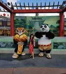 I met Po and Tigress at USH Lunar New Year Event 3