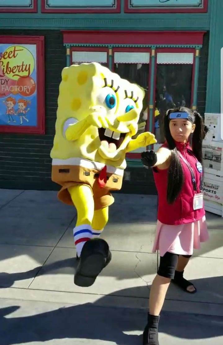 Spongebob and I did karate poses photo 3 by Magic-Kristina-KW