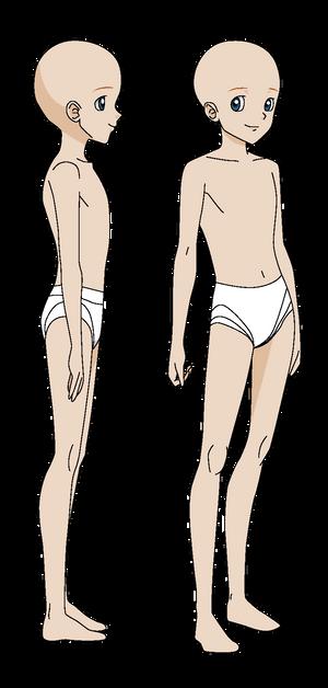 Sonic X styled human boy turnaround base 1
