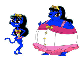 Blueberry Kristina In Pinkie Pie's Swimsuit by Magic-Kristina-KW