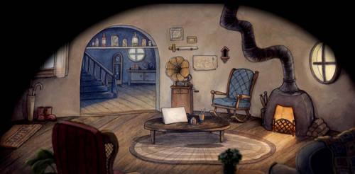 Cuphead - Elder Kettle's indoor house background