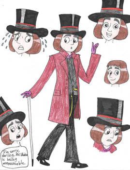 Johnny Depp as Willy Wonka in HaVTitH art style