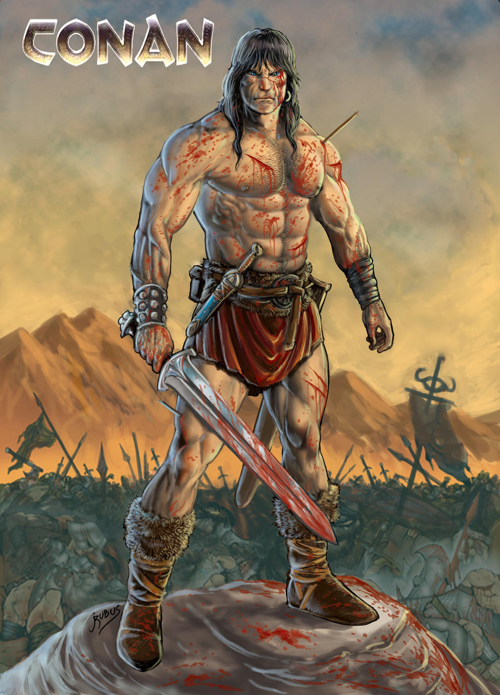 Conan triumphant - ravaged by RubusTheBarbarian