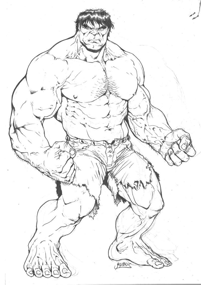 Marvel - Green Hulk pencils by RubusTheBarbarian on DeviantArt