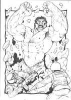 Marvel - Hulk Smash pencils by RubusTheBarbarian