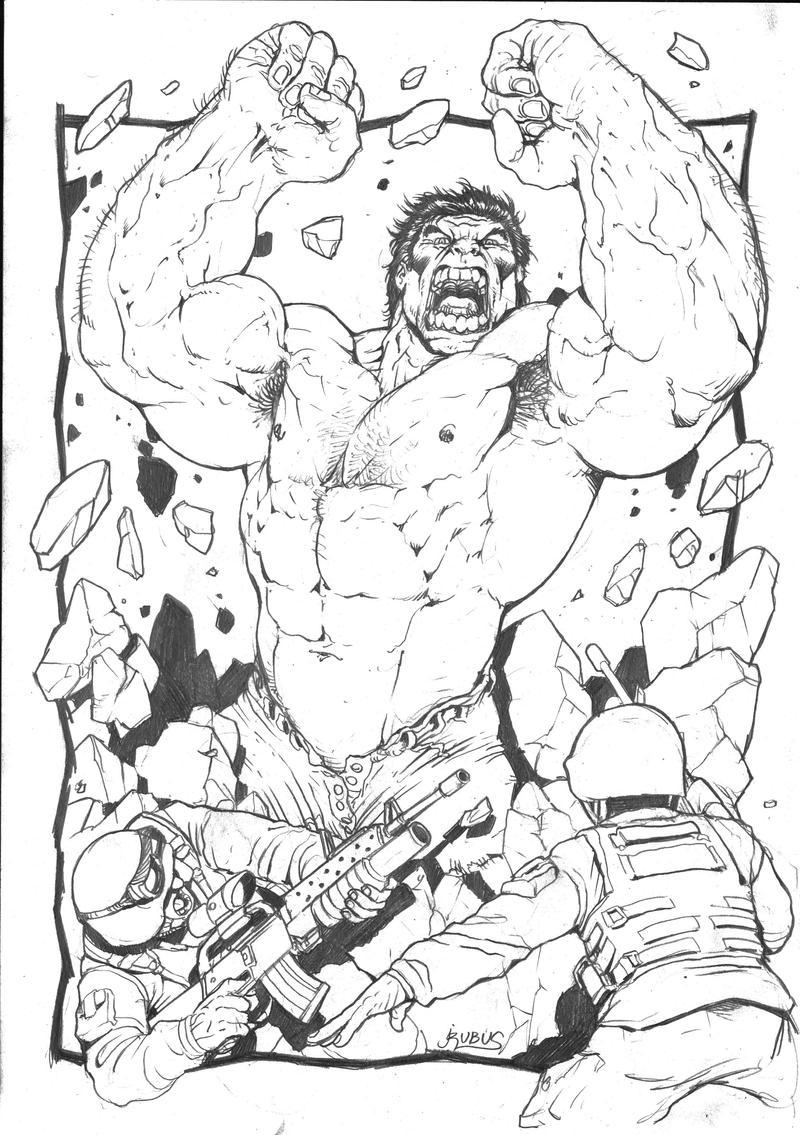 Superhelden Avengers Ausmalbilder: Hulk Smash Pencils By RubusTheBarbarian On DeviantArt