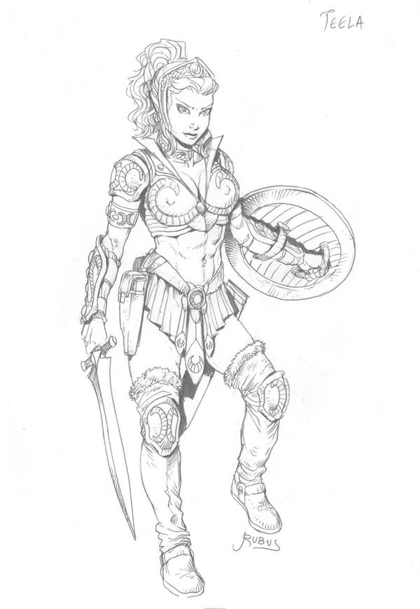 Motu teela by rubusthebarbarian on deviantart for Masters of the universe coloring pages