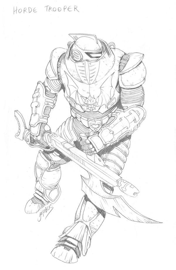 MOTU - Horde Trooper by RubusTheBarbarian