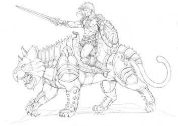 Heman and Battlecat by RubusTheBarbarian