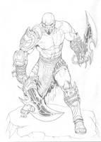 Kratos pencils by RubusTheBarbarian