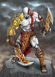 Kratos, God of War by RubusTheBarbarian