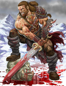 Osric the Barbarian blooded