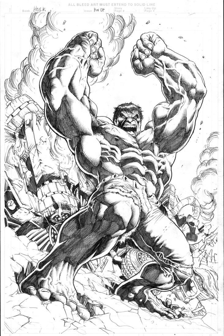 The Incredible Hulk 2012 by RubusTheBarbarian