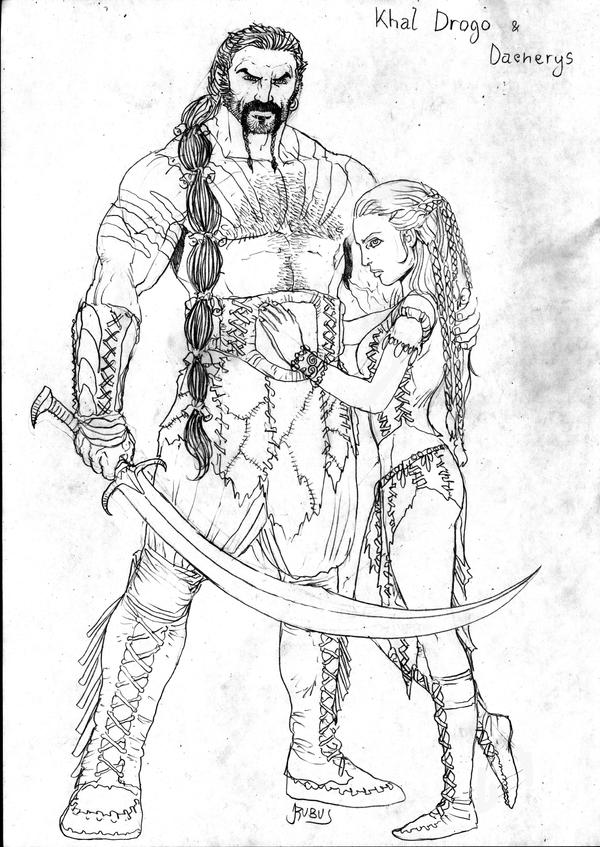 Game Of Thrones Khal Drogo And Daenerys By