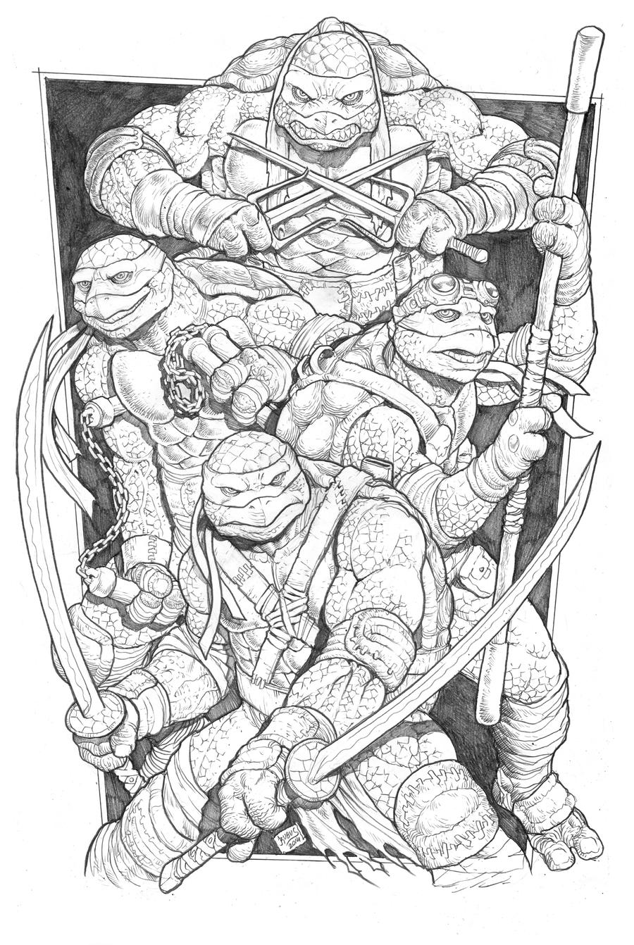 teenage mutant ninja turtles by rubusthebarbarian on deviantart