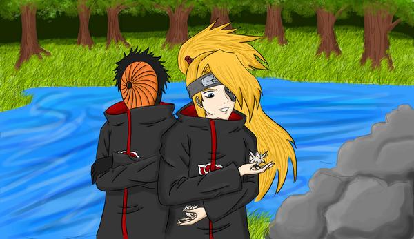 Deidara and Tobi -Colored- by Ashayami