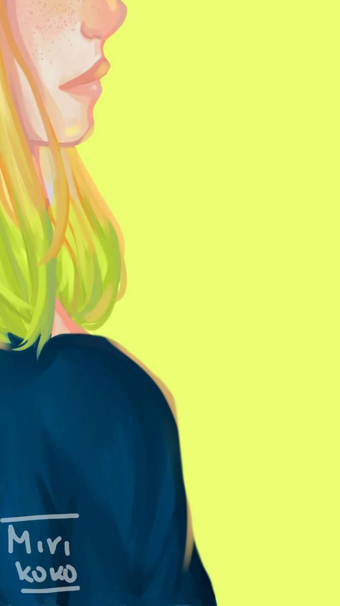 Yellow. (Eva, OC) by MiriKoKo
