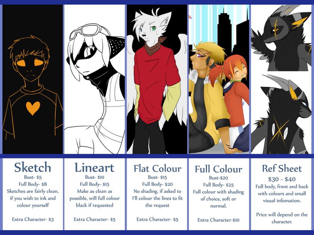 Commission Prices by Cheshyerr