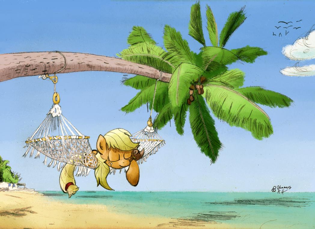 AJ at the beach by astarothathros