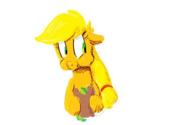 02-11-14 Applejack Can't Enjoy Her Sandwich by goattrain