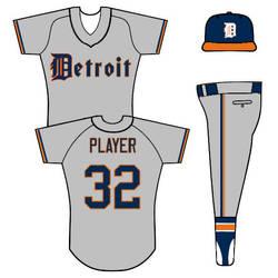 Tigers road uniform concept