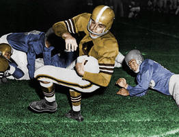 Otto Graham in color by TheGreatKtulu