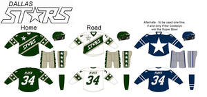 Dallas Stars logo/uniform concept by TheGreatKtulu