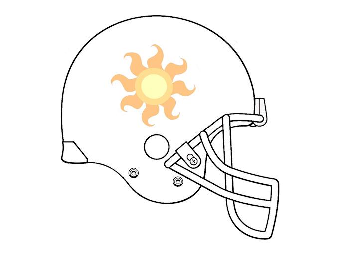 Celestia football helmet 1