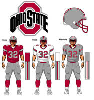 Ohio State Buckeyes uniform concept by TheGreatKtulu