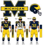 Michigan Wolverines uniform concept by TheGreatKtulu
